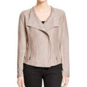 NIC+ZOE | 'Sundown' Moto Jacket Linen Blend sz L